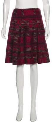 Oscar de la Renta Knit Knee-Length Skirt