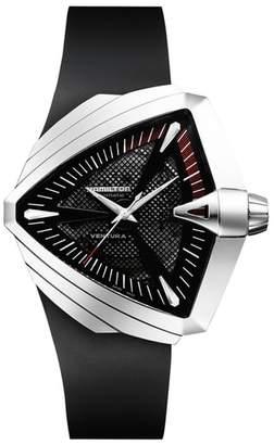 Hamilton Ventura Automatic Rubber Strap Watch, 45.5mm x 46mm