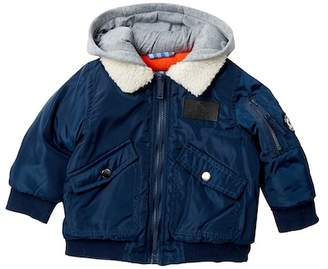 Ben Sherman Flight Jacket with Faux Shearling Collar (Baby Boys)