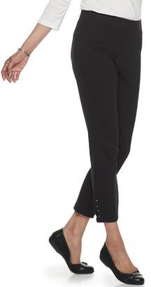 Croft & Barrow Petite Lace-Up Hem Pull-On Leggings