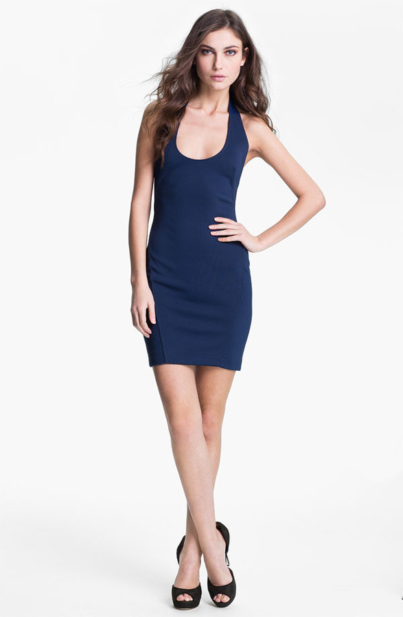 French Connection Halter Sheath Minidress