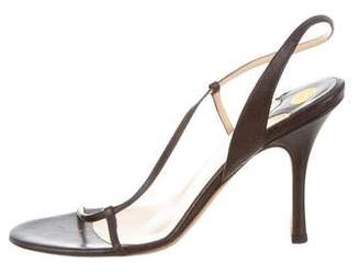 Alexandra Neel Leather Ankle Strap Sandals