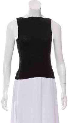 Chanel Lightweight Cashmere & Silk-Blend Sleeveless Top
