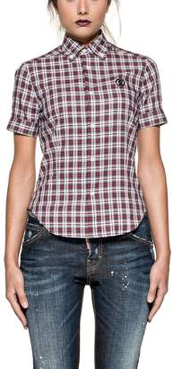DSQUARED2 Red/white/green Checked Shirt