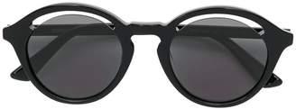 McQ Eyewear cutaway lens round sunglasses