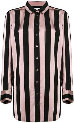 Marques Almeida Marques'almeida striped longline shirt