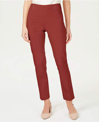 JM Collection Regular and Short Length Studded Pull-On Tummy Control Pants