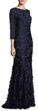 Theia Boatneck Petal Gown