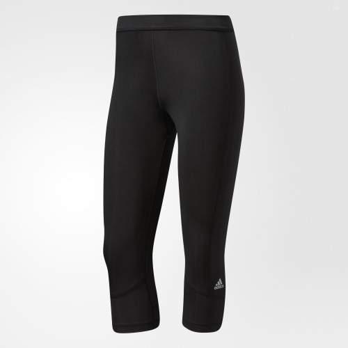 adidas Performance Women's Techfit Capri (Large) (X-Small, Black/Matte Silver)