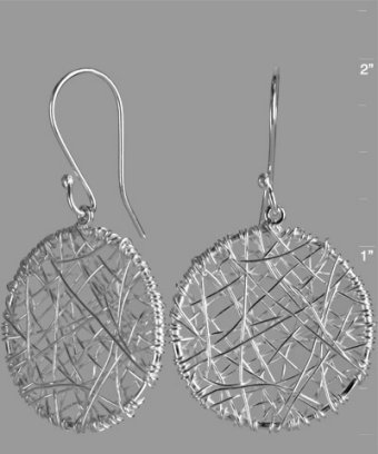 Argento Vivo silver wire wrapped hoop earrings