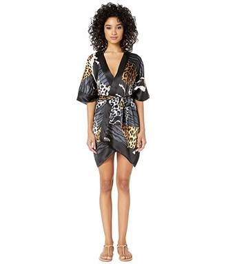 Moschino Patchwork Animal Print Robe Cover-Up