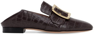 Bally 10mm Janelle Embossed Croc Loafers