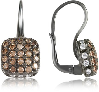 Nuovegioie Azhar Cubic zirconia and Sterling Silver Square Earrings