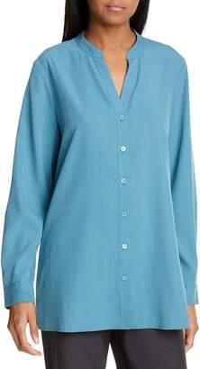 Eileen Fisher Mandarin Collar Shirt