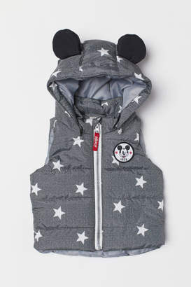 H&M Padded Vest with Hood - Gray