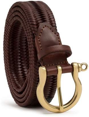 Dalgado - Elastic Braided Leather Belt Brown Paola