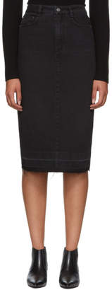 Givenchy Black Denim Pencil Skirt