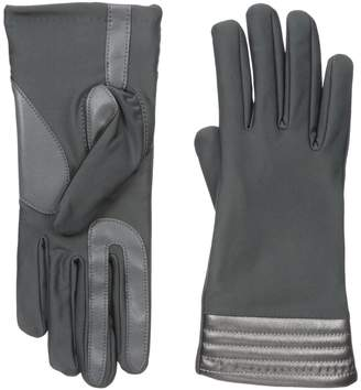 Isotoner Spandex smarTouch Gloves with Metallic Hem