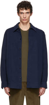Acne Studios Navy Minimal Military Shirt