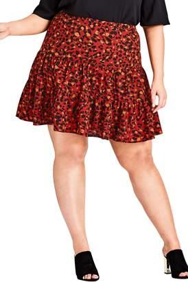 City Chic Wild Animal Skirt