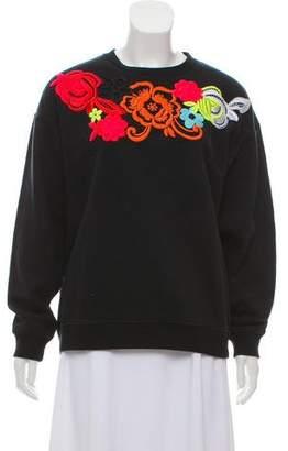 Christopher Kane Embroidered Crew Neck Sweatshirt