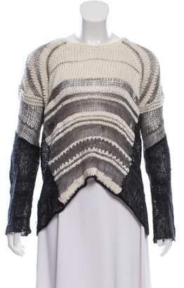 Helmut Lang Open Knit Silk-Blend Sweater