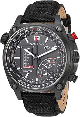 Nautica Men's 'MILLROCK COLLECTION' Quartz Stainless Steel and Nylon Casual Watch