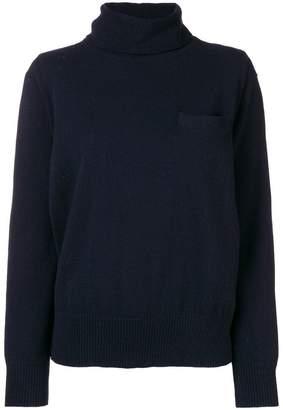 Sacai pleated back knit sweater