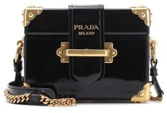 Prada Cahier patent leather shoulder bag