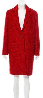Zac Posen Giselle Cosmic Crimson Long Coat w/ Tags