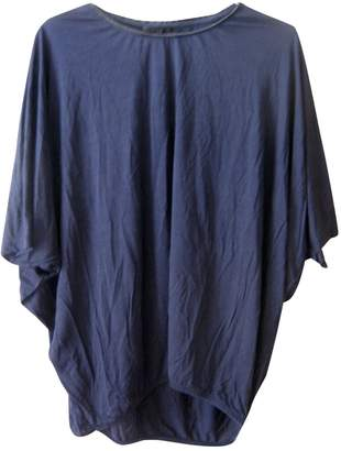 Cos Blue Cotton Top for Women