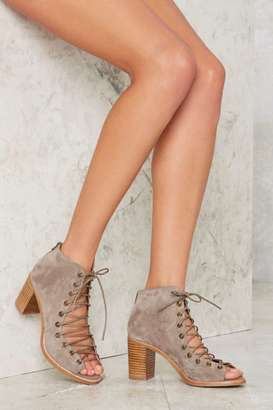 Jeffrey Campbell Cors Bootie - Taupe Suede $165 thestylecure.com