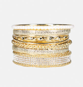 Avenue Textured Bangle Set