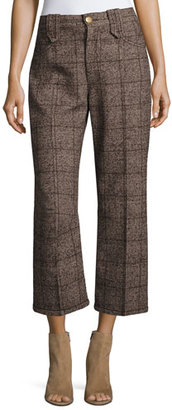 Marc Jacobs Plaid Tweed Cropped Pants $395 thestylecure.com