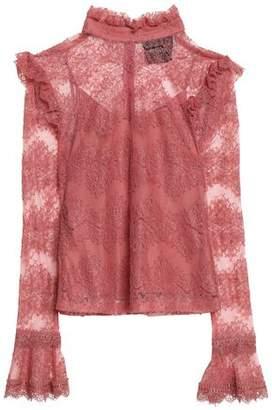 Nicholas Ruffle-Trimmed Cotton-Blend Lace Blouse