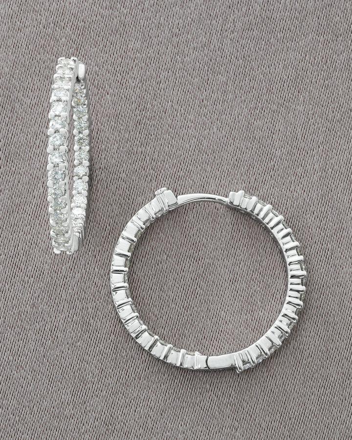 Roberto Coin Diamond Hoop Earrings, 1.50 TCW