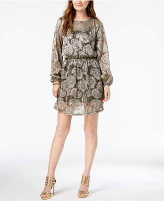 Michael Kors Printed Peasant Dress