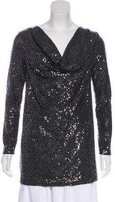 Tibi Embellished Long Sleeve Tunic