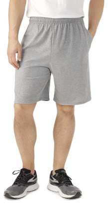 Fruit of the Loom Big Men's Platinum Jersey Shorts with Side Pockets