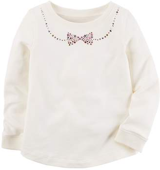 Carter's Girls 4-8 Bow Long-Sleeved Top