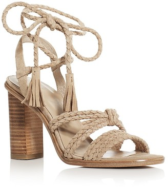 Joie Banji Braided Ankle Tie High Heel Sandals $298 thestylecure.com