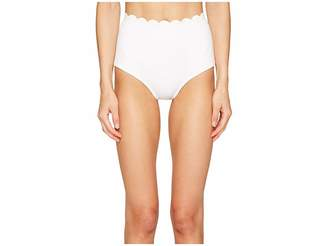 Kate Spade Core Solids #79 Scalloped High-Waist Bikini Bottom