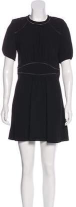 Isabel Marant Crepe Mini Dress Black Crepe Mini Dress