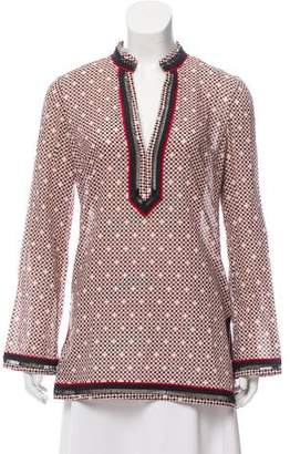 Tory Burch Embroidered Patterned Tunic