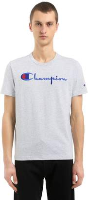 Champion Logo Embroidered Cotton Jersey T-Shirt