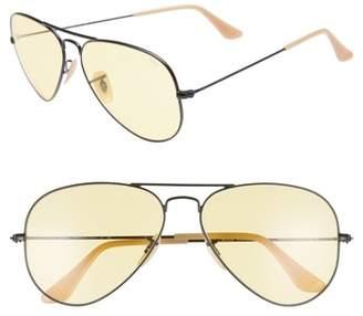 Ray-Ban Evolve 58mm Polarized Aviator Sunglasses