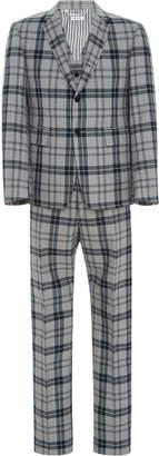 Thom Browne Exclusive Tartan Wool-Blend Three-Piece Suit