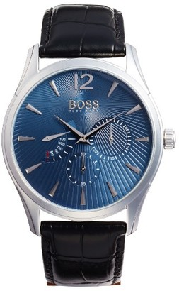 Boss Commander Multifunction Leather Strap Watch, 41Mm $245 thestylecure.com