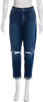 L'Agence High-Rise Slim Straight Jeans