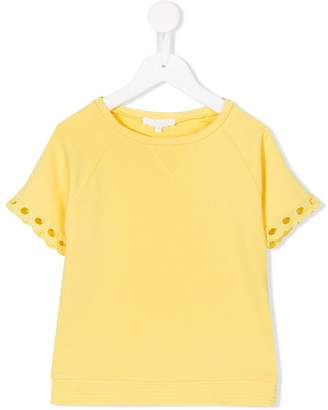 Chloé Kids embroidered detail T-shirt